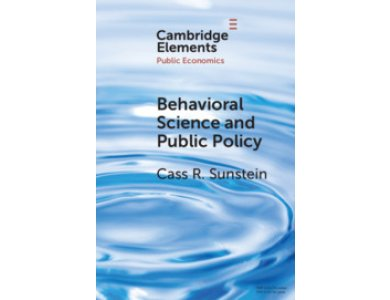 Behavioral Science and Public Policy